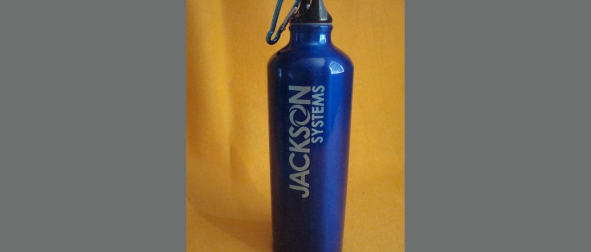 custom water bottle aluminum company logo